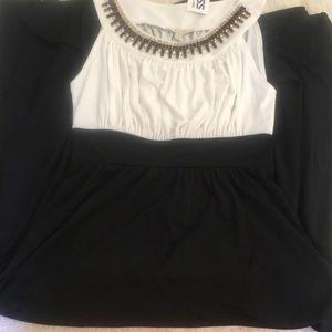 Floorlength black white Dress